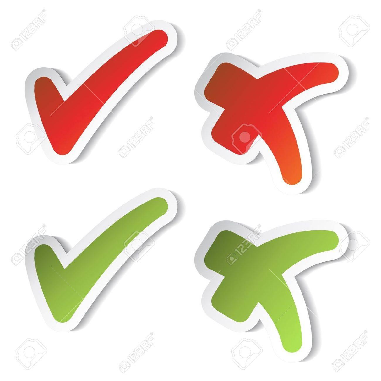 Vector check mark stickers Stock Vector - 11490975