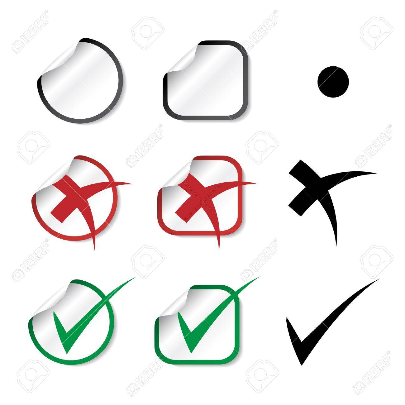 Vector check mark stickers Stock Vector - 11490952
