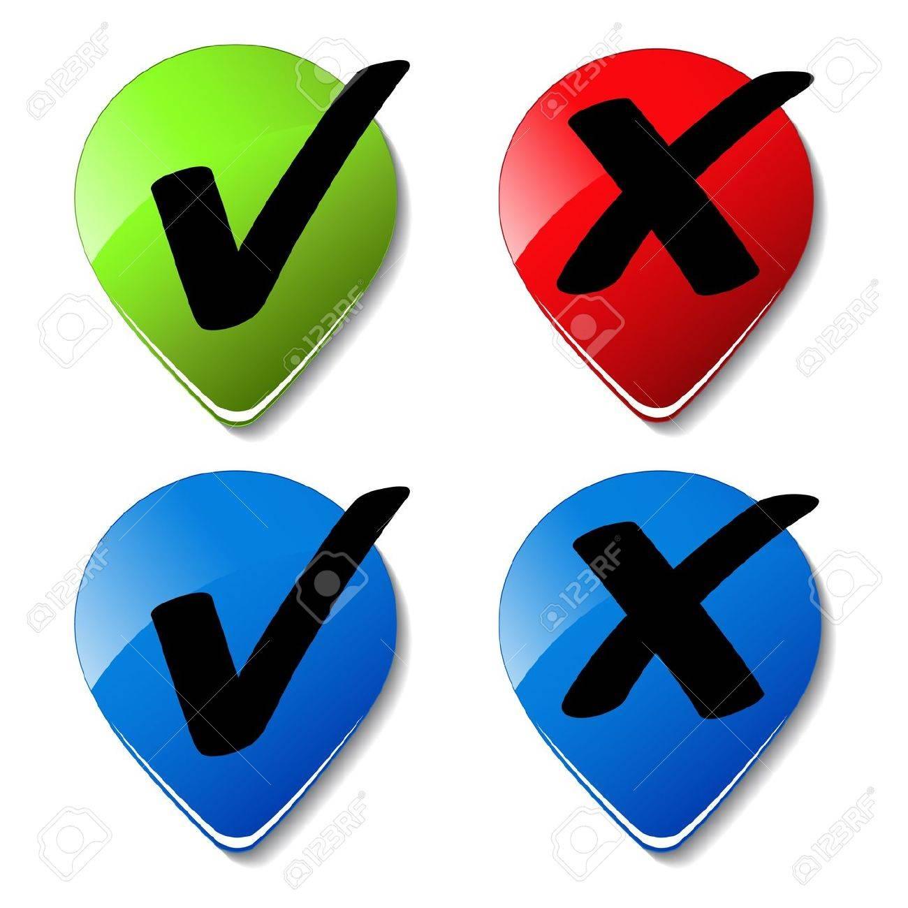 Vector check mark buttons Stock Vector - 11513457