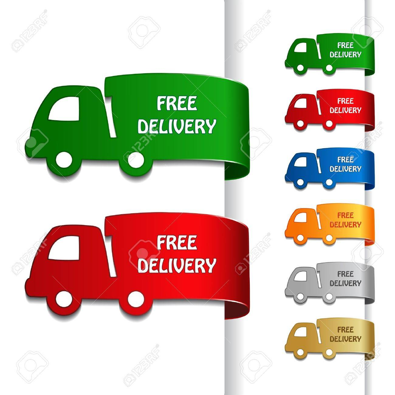 Vector cars of free delivery Stock Vector - 11513351