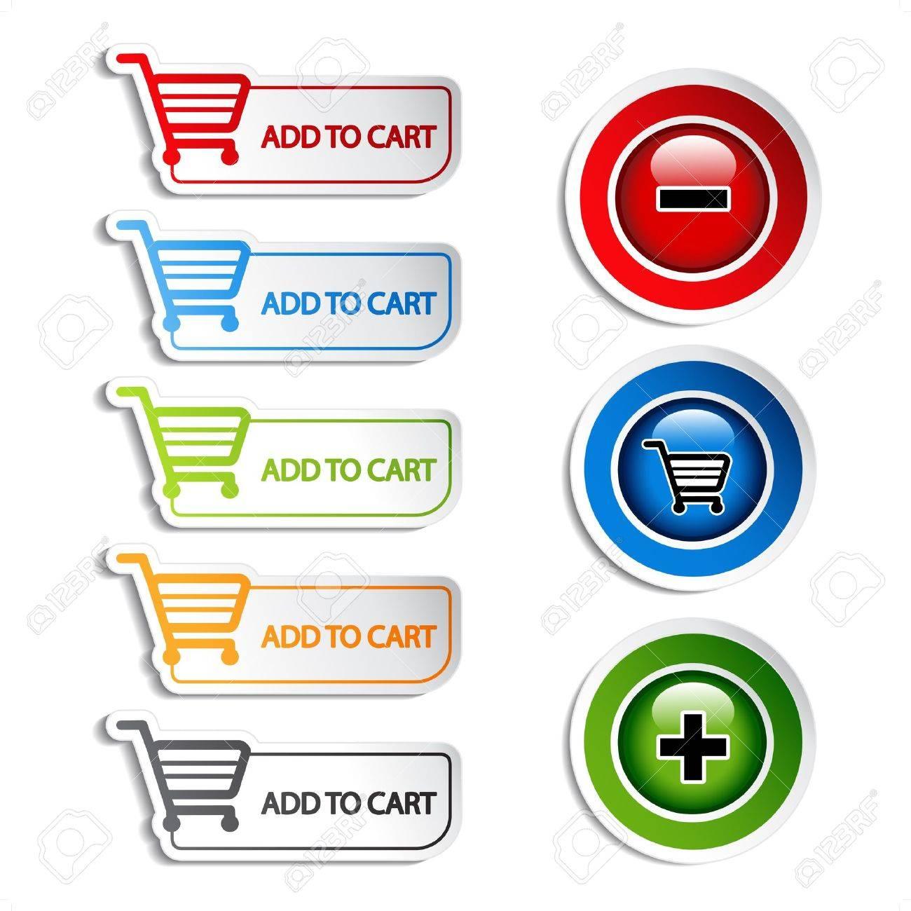 Vector add delete shopping cart item Stock Vector - 11513395