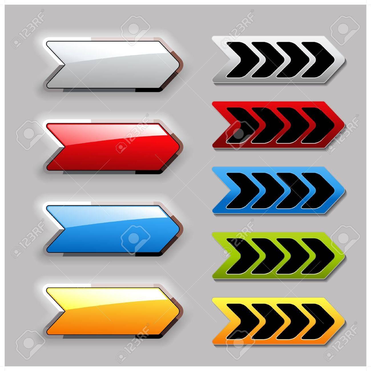 Vector set of arrow buttons Stock Vector - 11513392