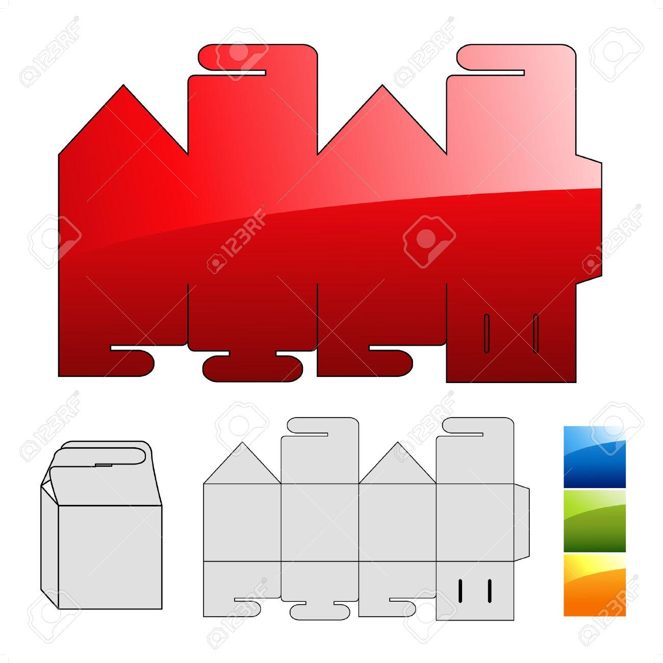Vector wrap puzzle template for box Stock Vector - 11651743