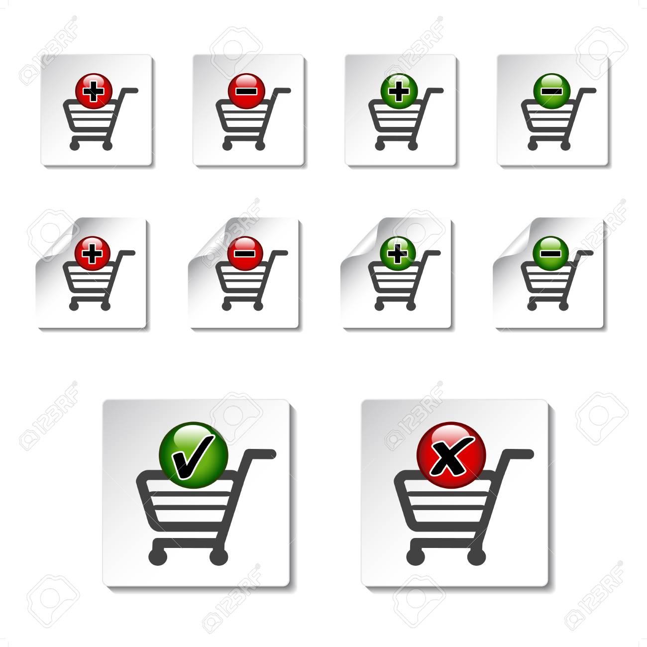 Vector add delete shopping cart item Stock Vector - 11651777
