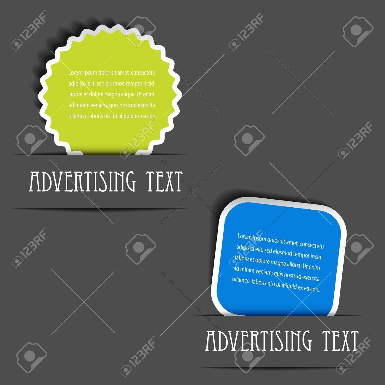 Vector advertising labels Stock Vector - 11651816