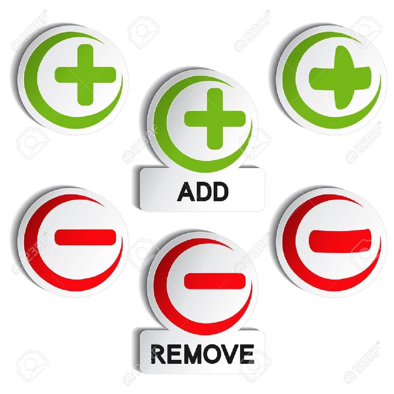 Vector add remove item - plus, minus - 11920374