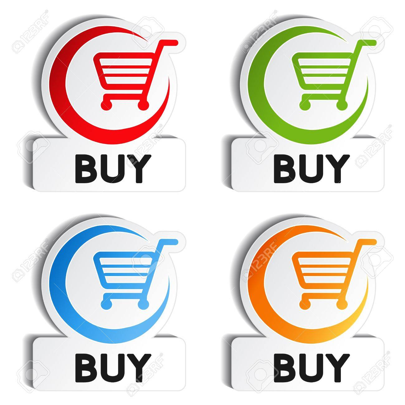 Vector shopping cart item - buy buttons Stock Vector - 11920379