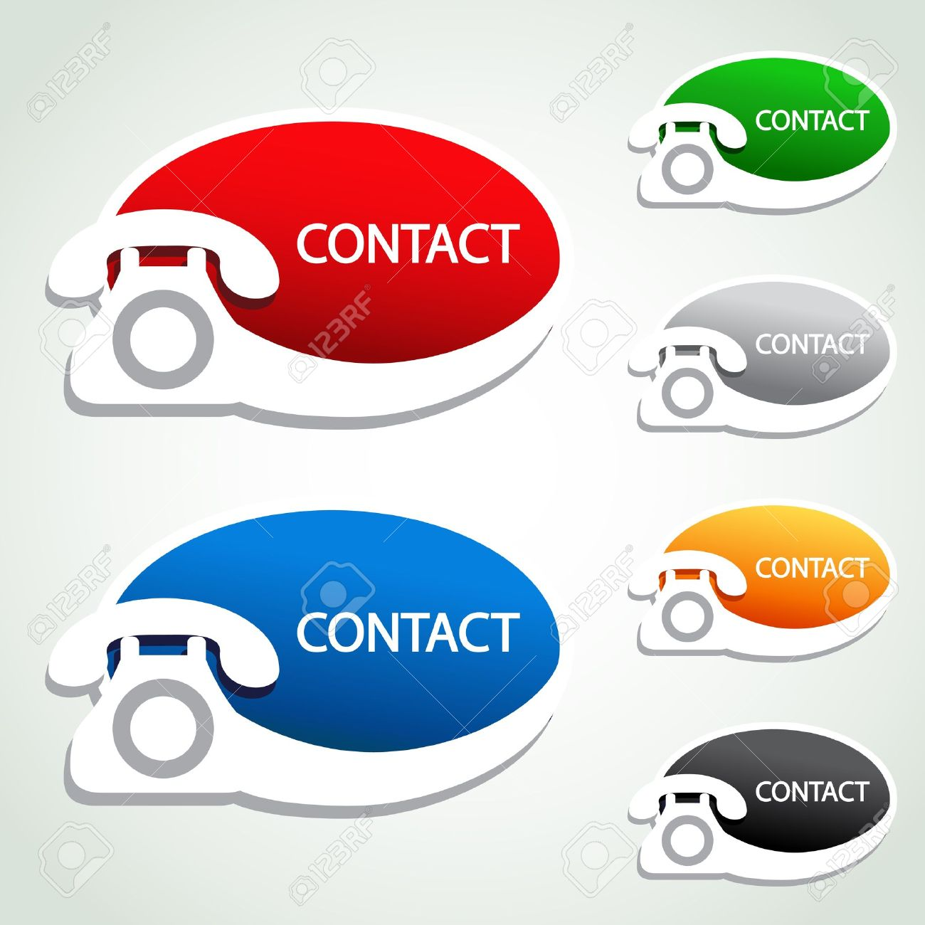 Vector vector phone stickers contact icons
