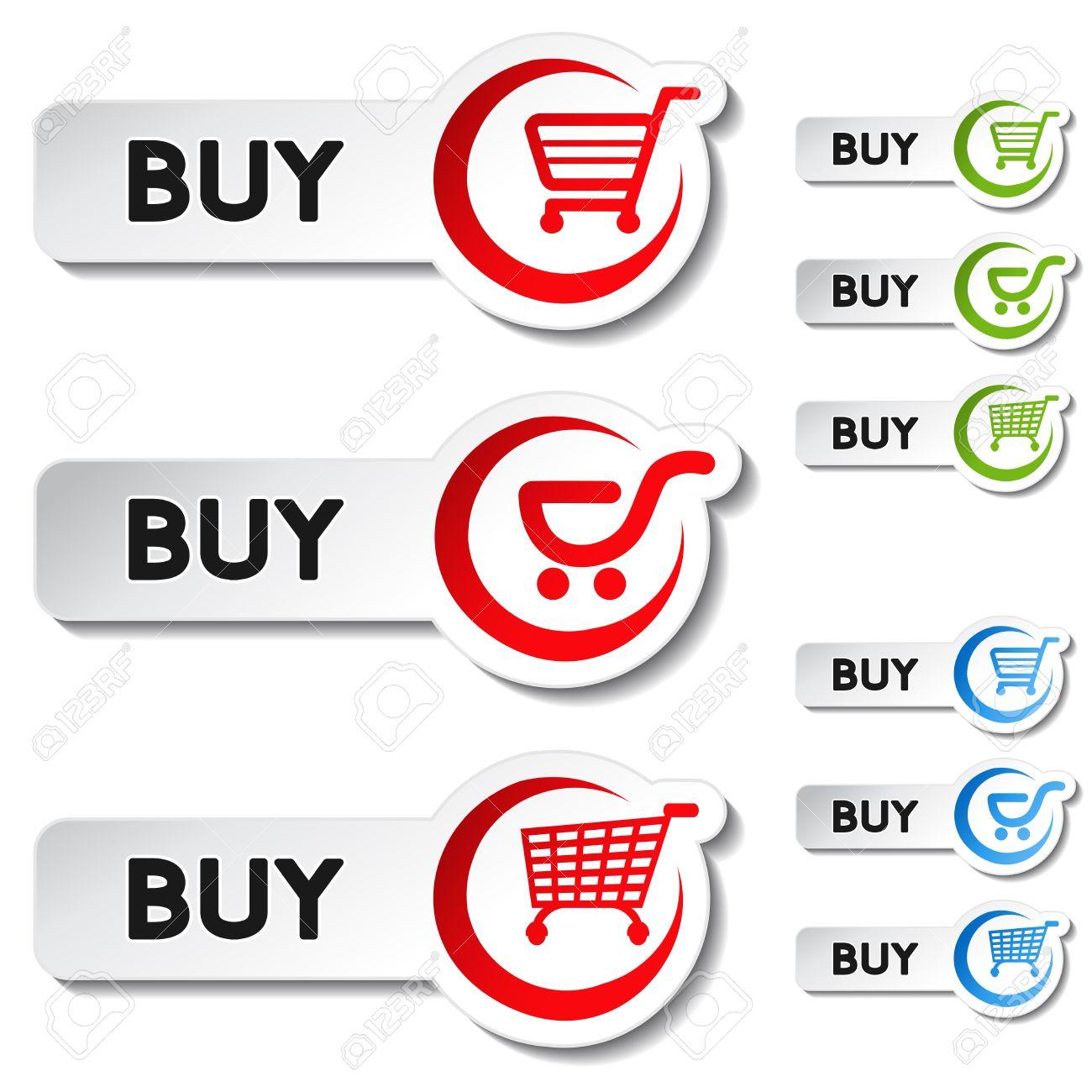 Vector shopping cart item - buy button Stock Vector - 11920387