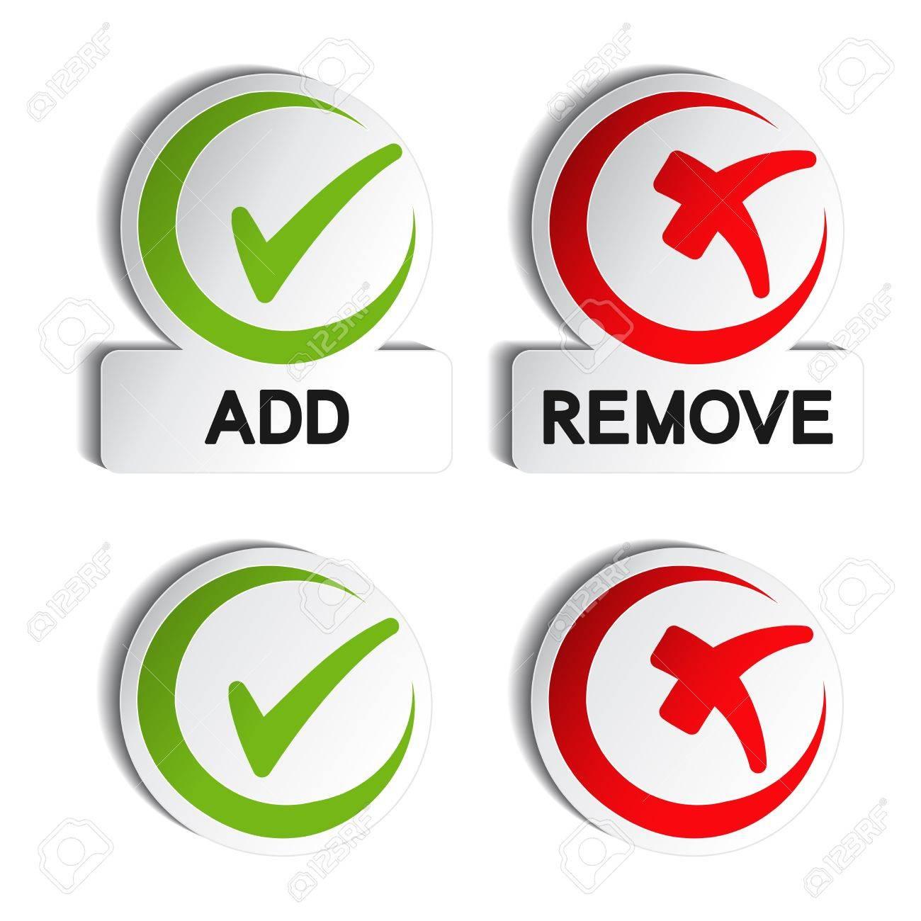 Vector add remove circular item Stock Vector - 13659006