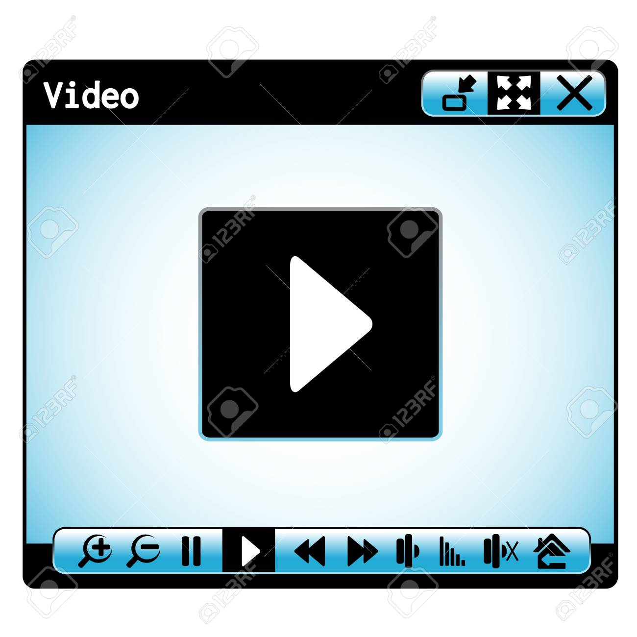 web video player window Stock Vector - 16785113