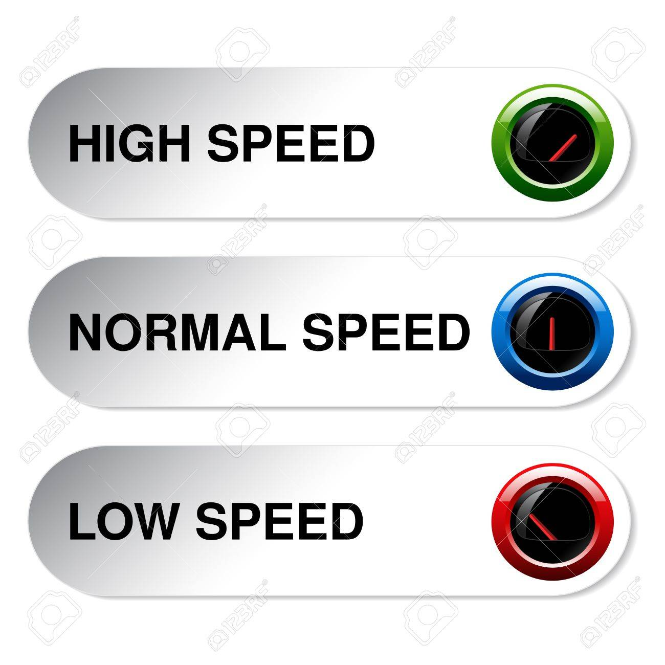 button of speed - low, normal, high - illustration Stock Vector - 19506202