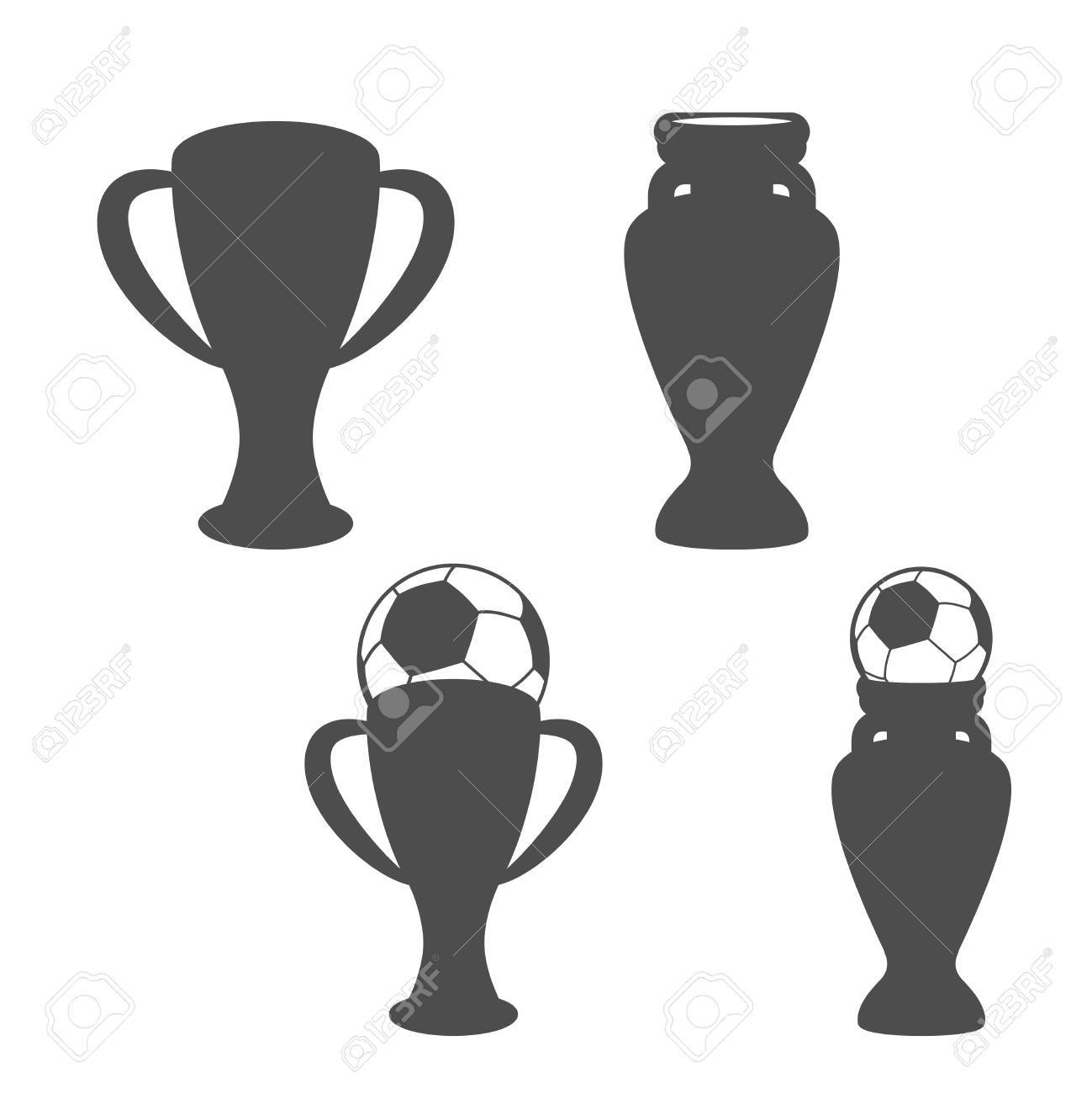 Vector set of soccer cup icon of football grey symbols of vector set of soccer cup icon of football grey symbols of championship icons buycottarizona Choice Image