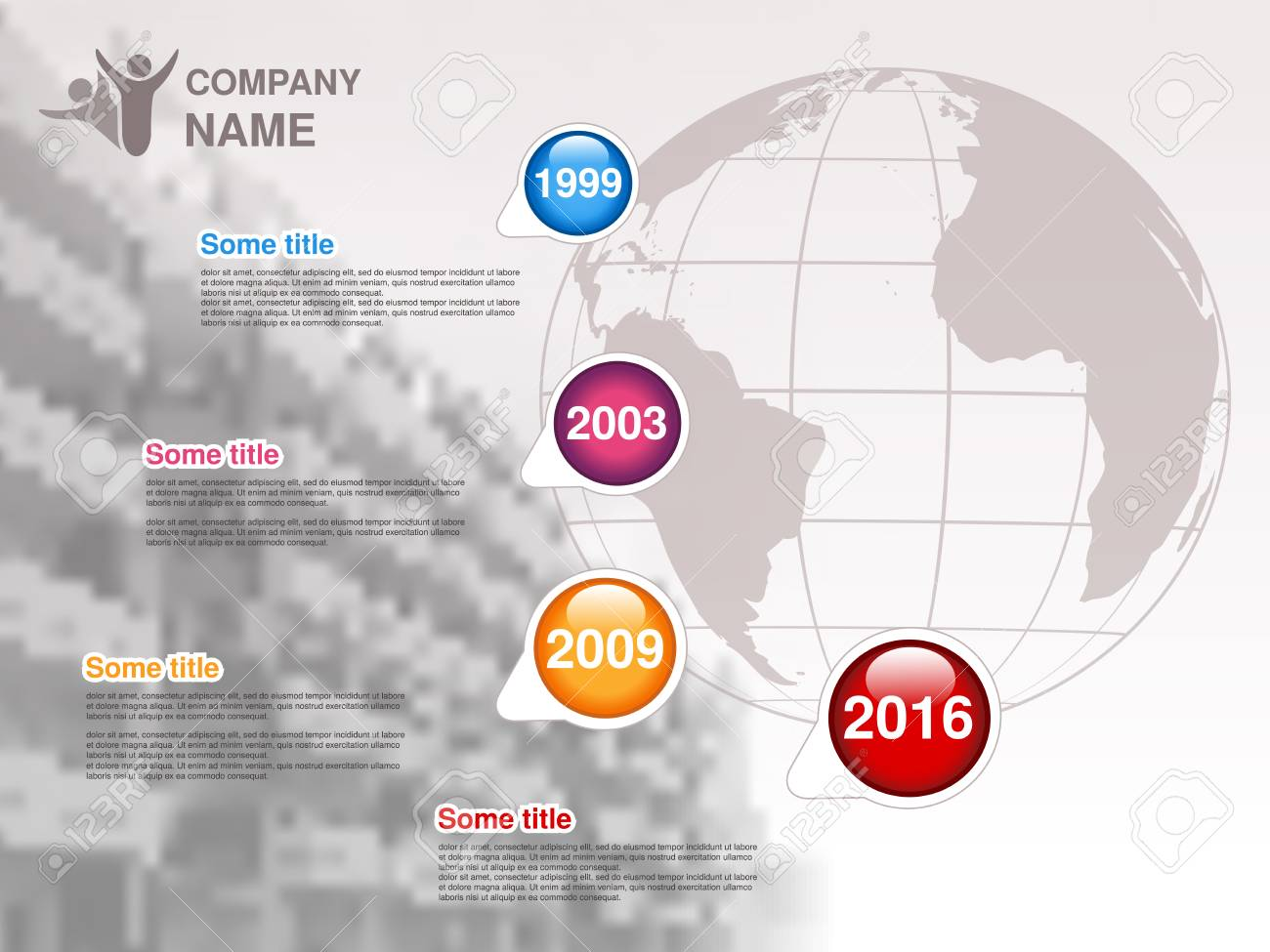 Vector Timeline. Infographic Template For Company. Timeline With ...