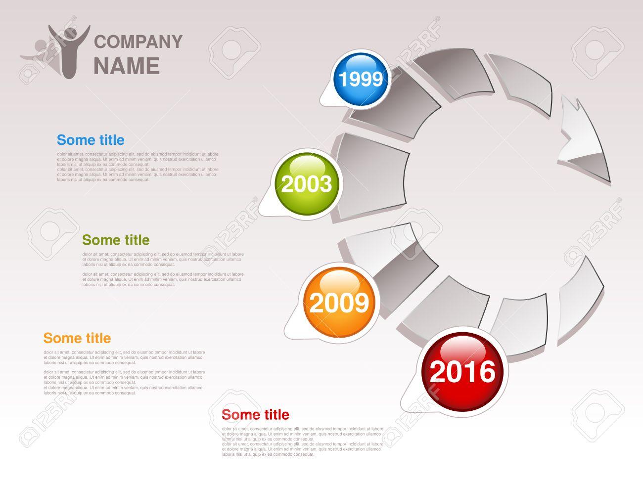 Vektor-Zeitleiste. Infografische Vorlage Für Unternehmen. Timeline ...