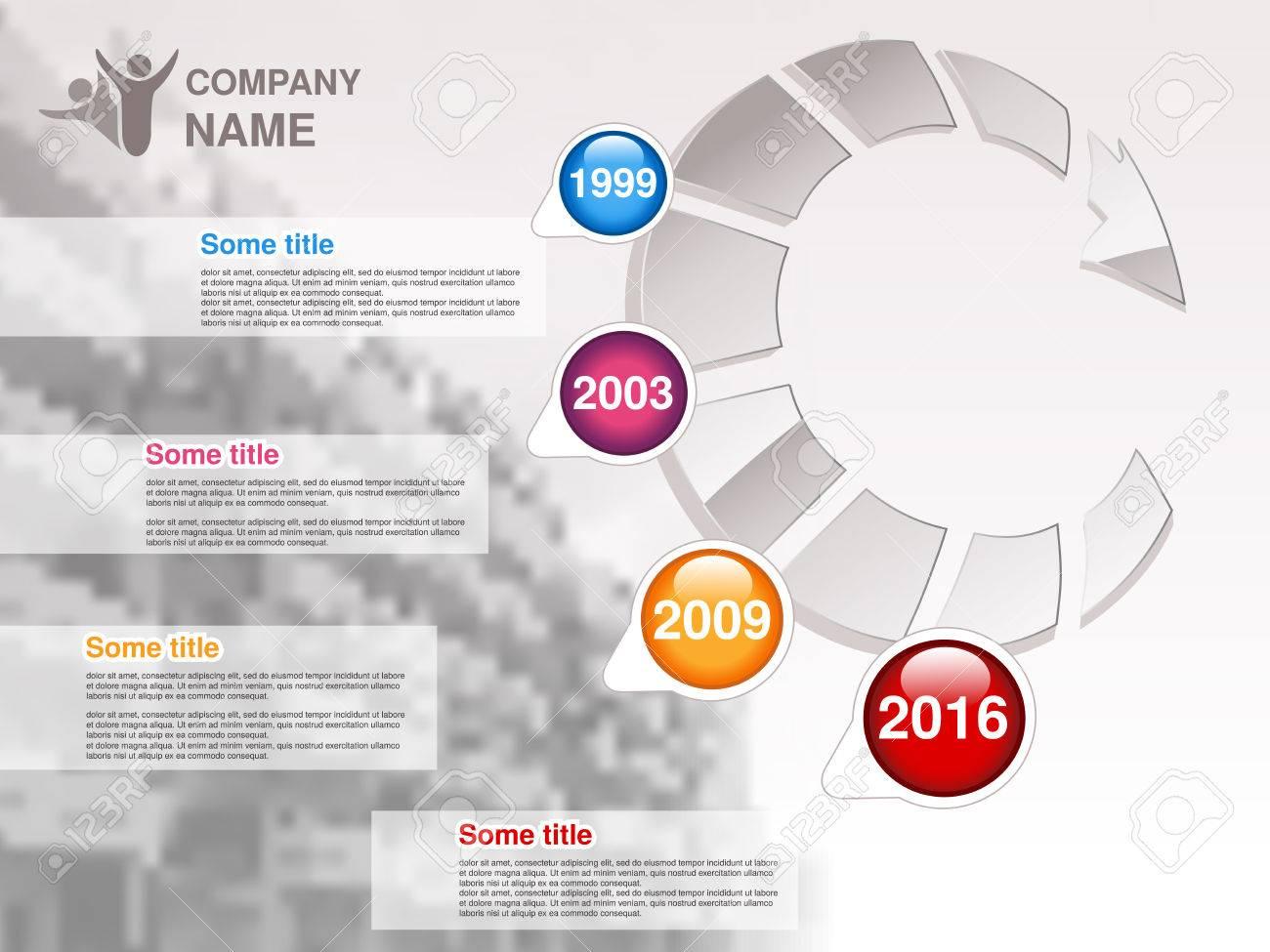 Vector Timeline. Infografik-Vorlage Für Unternehmen. Timeline Mit ...