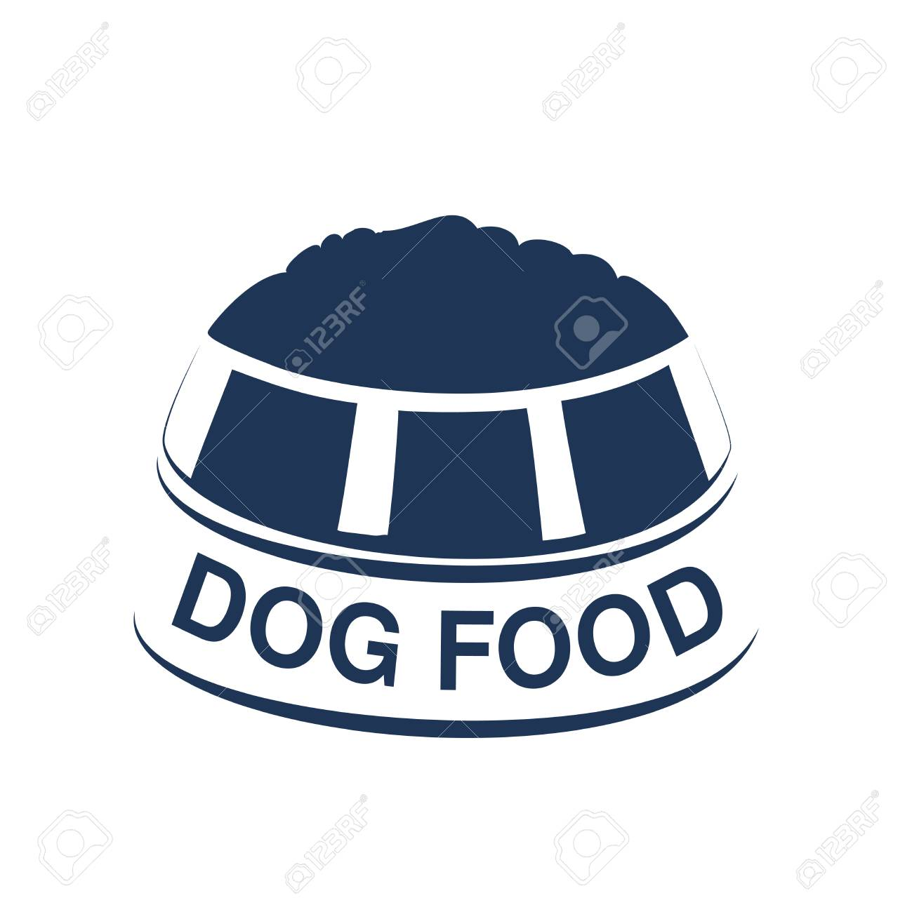 Vector dog food label with silhouette of a bowl of feed dog vector dog food label with silhouette of a bowl of feed dog food symbols isolated biocorpaavc Gallery