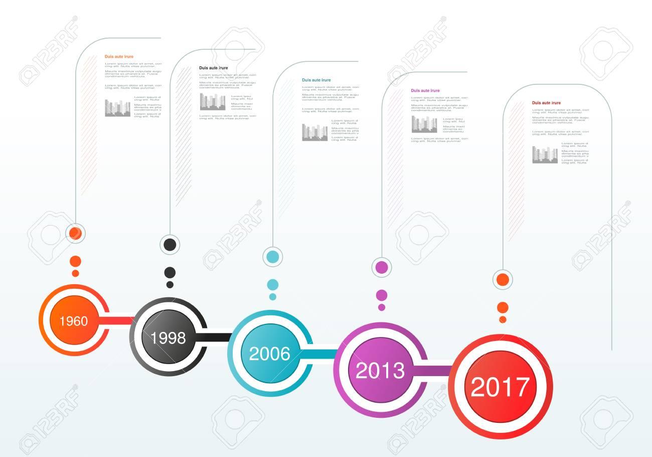 Diseño De Línea De Tiempo De Infografía De Vector. Plantilla Con ...