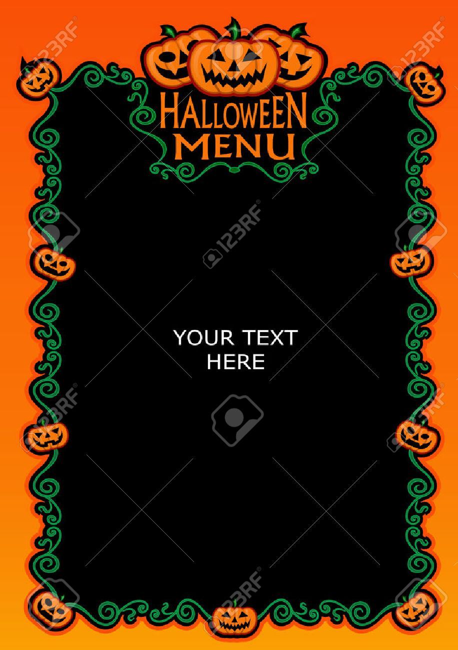 halloween menu template royalty free cliparts vectors and stock