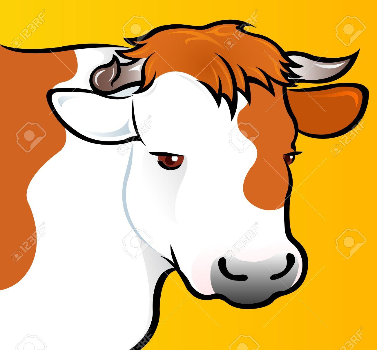 Cow Head in vectors Stock Vector - 9674462