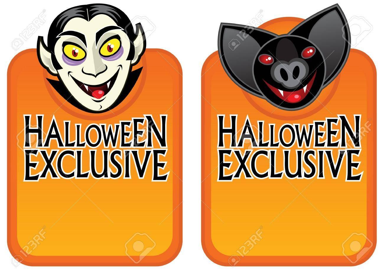 Halloween Exclusive Character Labels Stock Vector - 9674490
