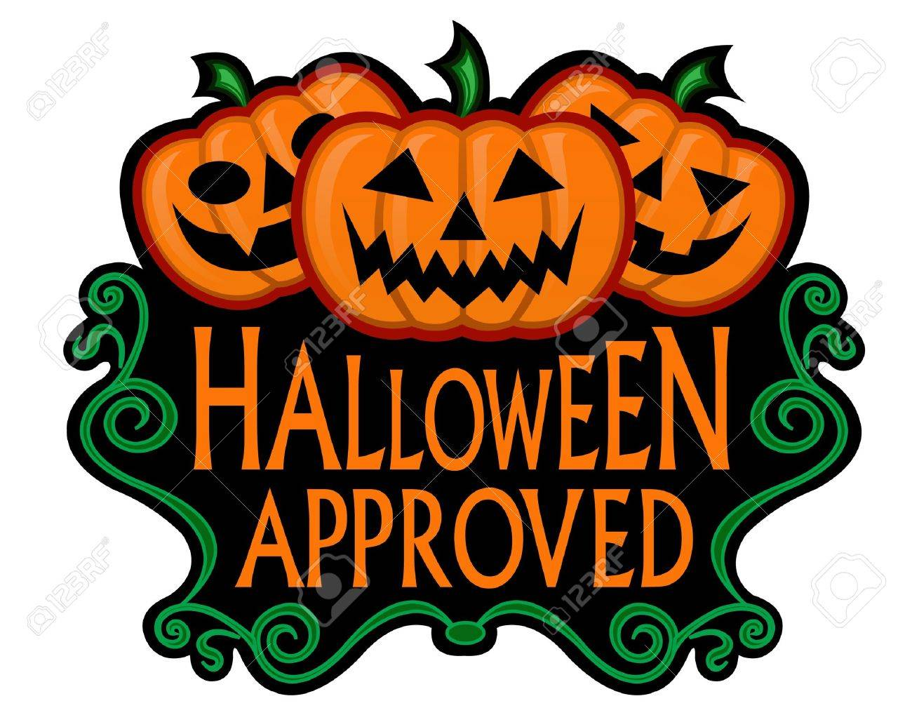 Halloween Approved Label Stock Vector - 9674537