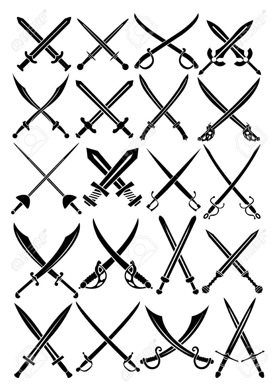 Crossed Swords Stock Vector - 13694508