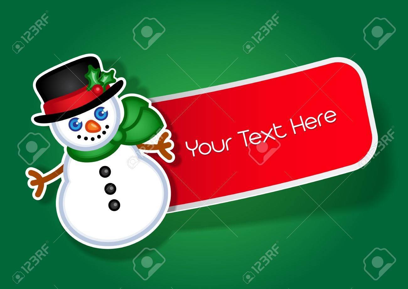 Christmas Snowman sticker   label Stock Vector - 13694570