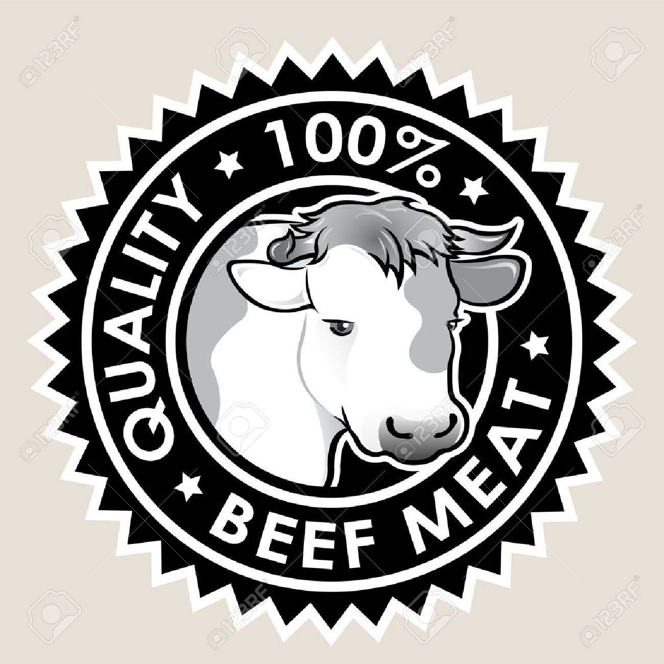 Beef Meat Quality 100% Seal Stock Vector - 13848598