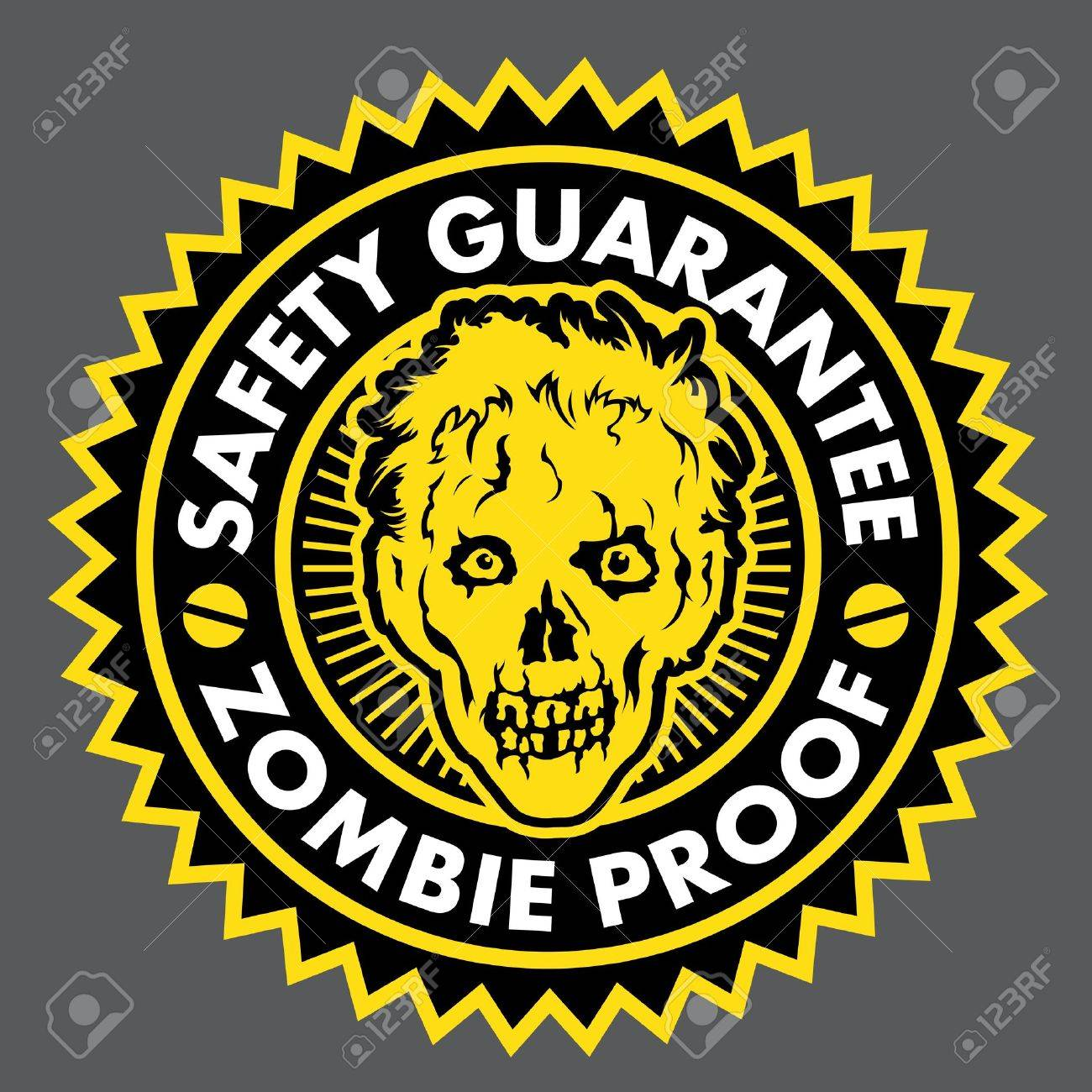 Zombie Proof, Safety Guarantee Seal Stock Vector - 15323782