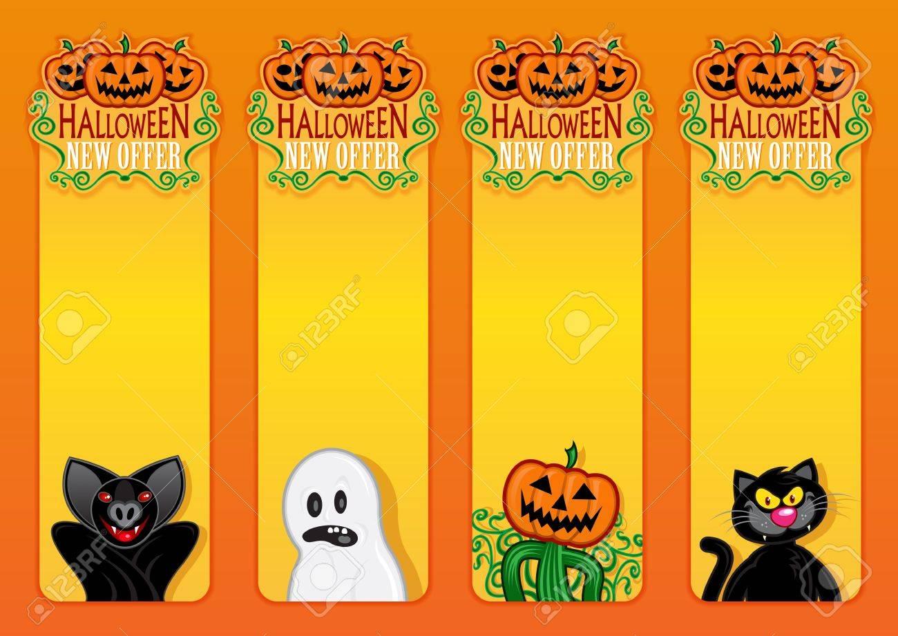 Halloween New Offer, vertical labels Stock Vector - 15379602