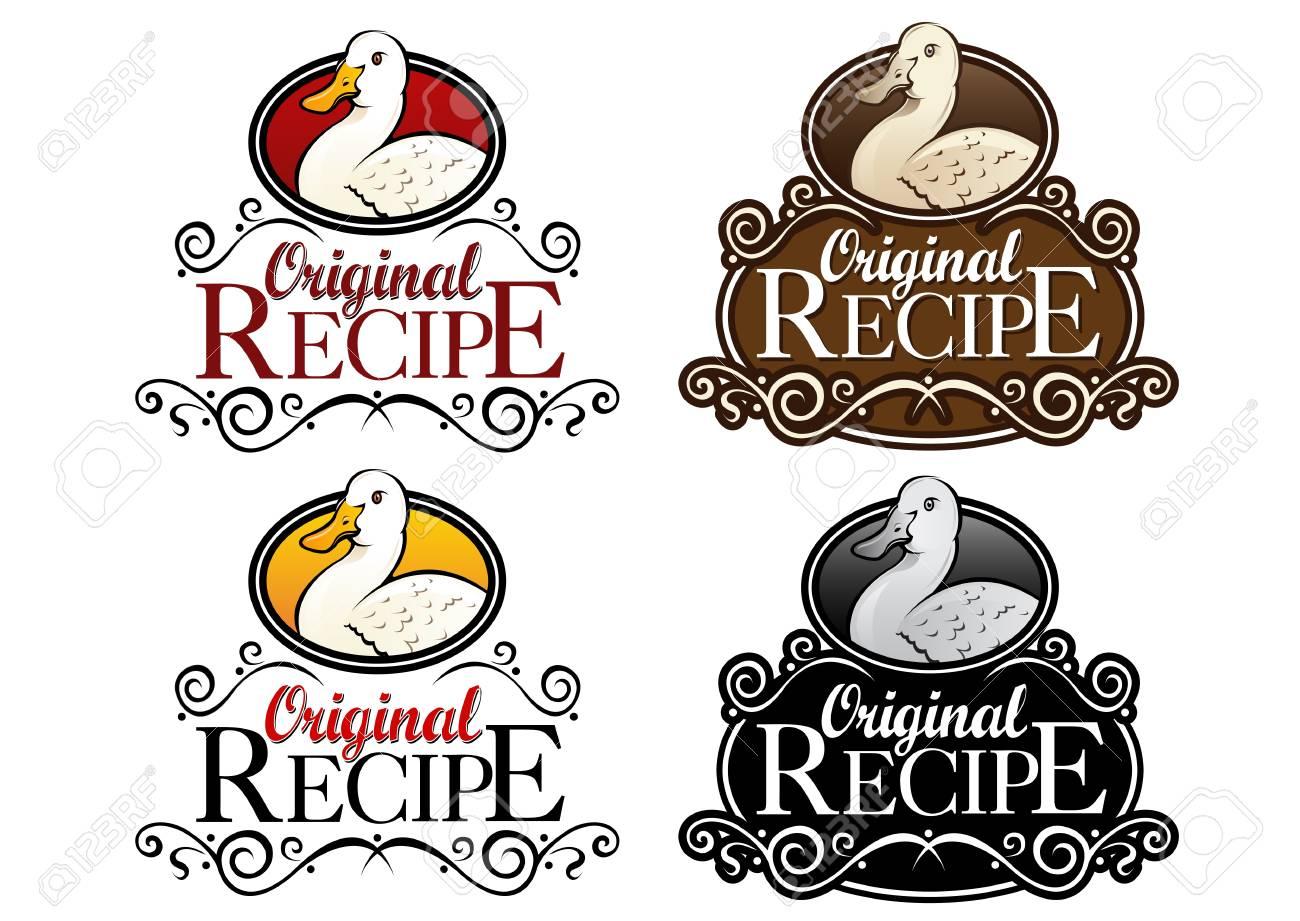 Original Recipe Duck Version Seal Stock Vector - 15379599