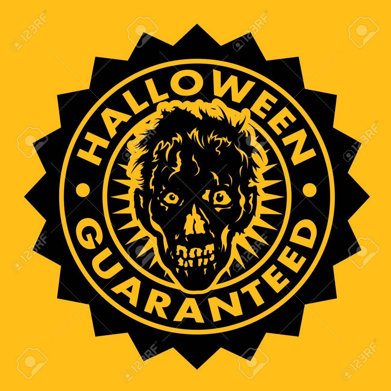 Halloween Guaranteed Zombie Seal Stock Vector - 15686578
