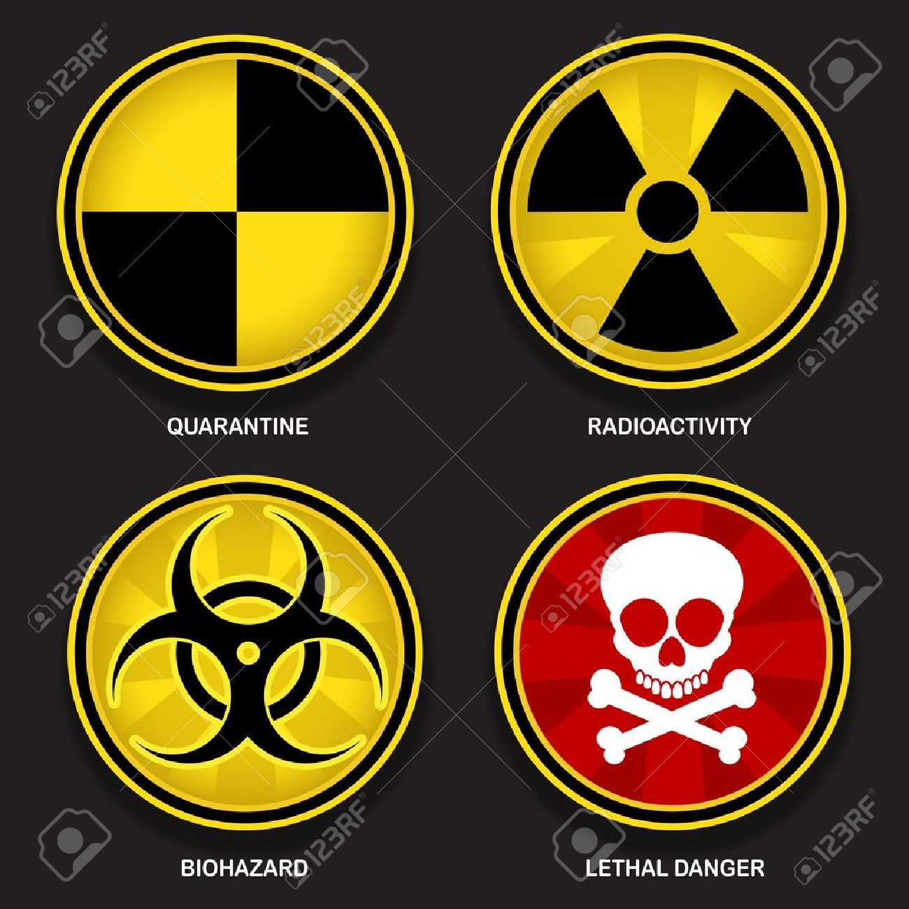 Hazard symbols signs royalty free cliparts vectors and stock hazard symbols signs stock vector 16556393 biocorpaavc Image collections