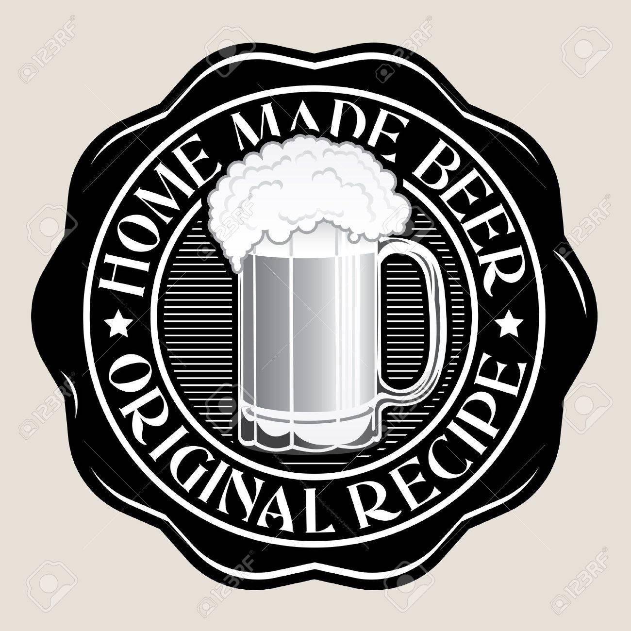Home Made Beer / Original Recipe Seal Stock Vector - 16556401