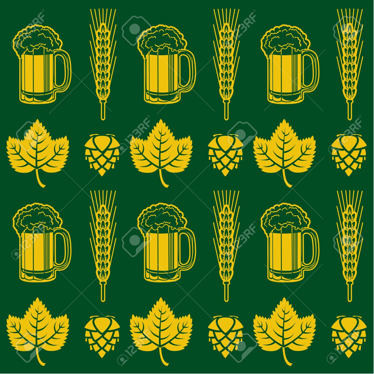 Beer Seamless Pattern Stock Vector - 18515745