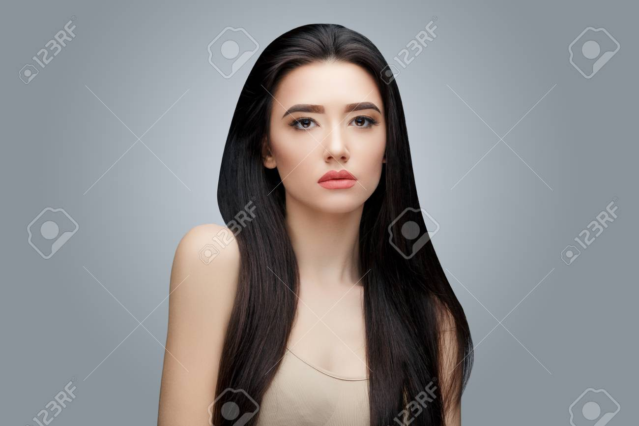 Brunette Asian Girl With Long Straight Hair Stock Photo Picture And Royalty Free Image Image 96514872
