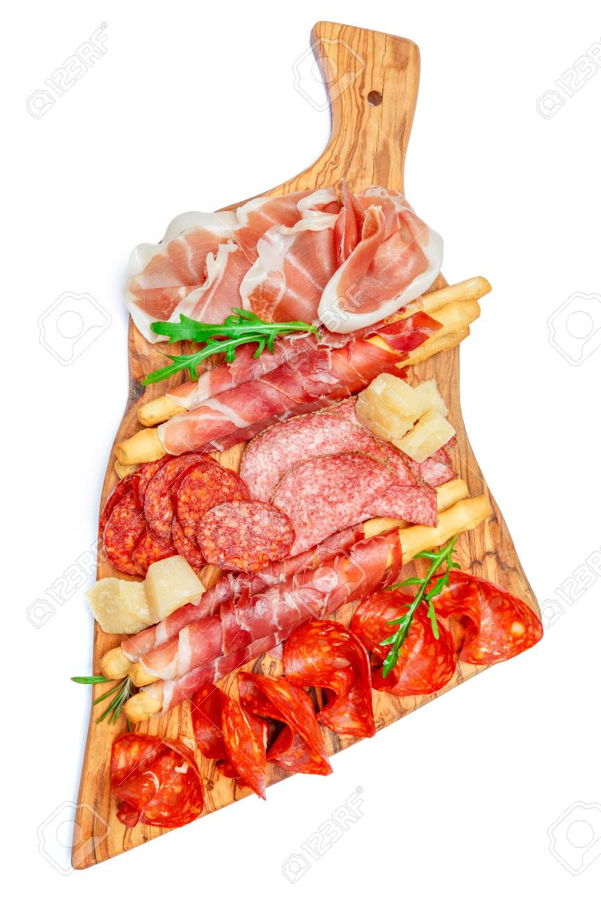 Cold Smoked Meat Plate With Pork Chops, Prosciutto, Salami And ...
