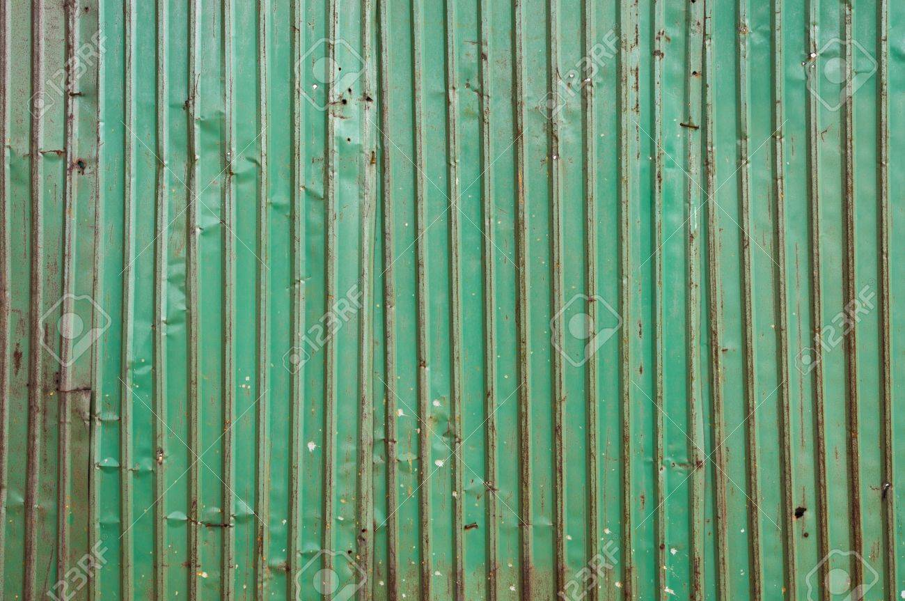 old corrugated metal sheet fence Stock Photo - 15303561