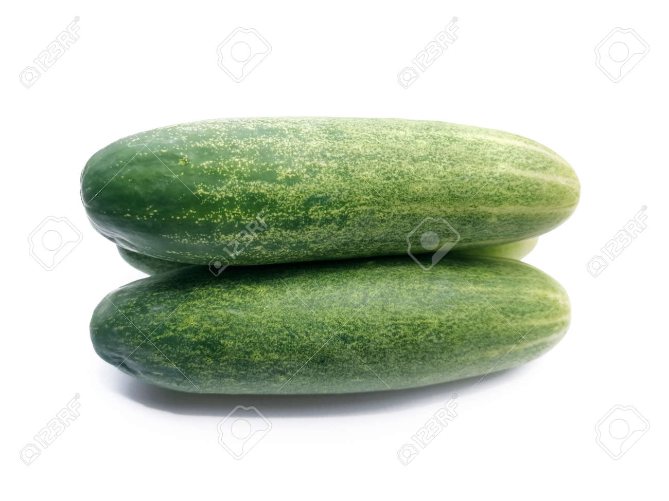 cucumber slice, isolated on a white background - 130368044