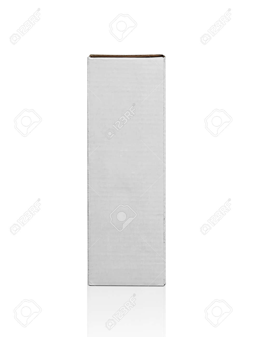 blank packaging white cardboard box isolated on white background ready for packaging design - 166926236