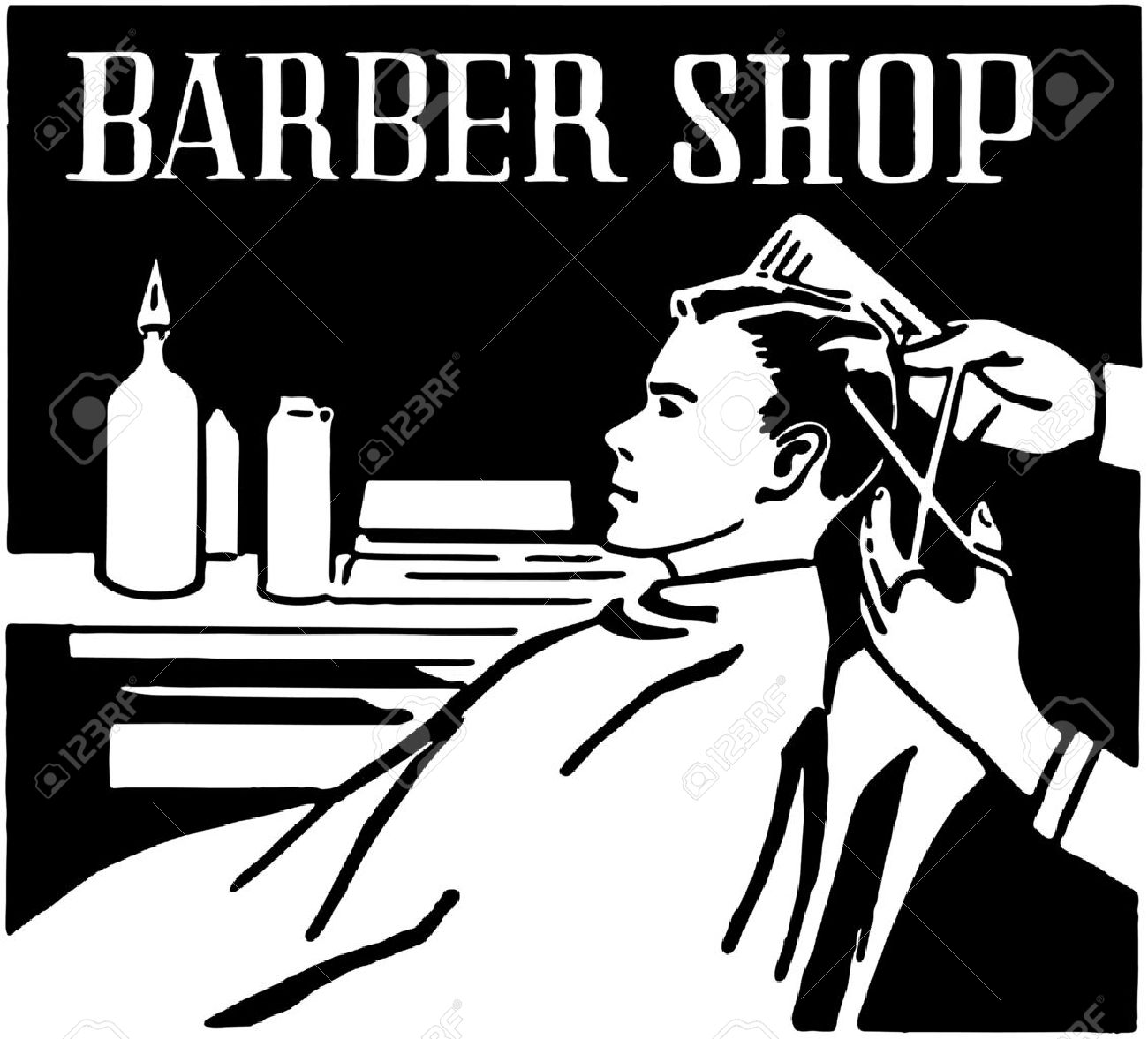 Barber Shop Stock Vector