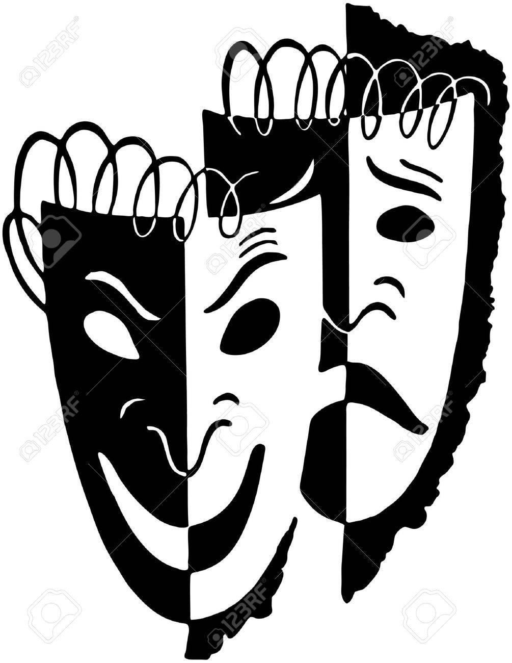 Comedy Drama Masks - 28334424