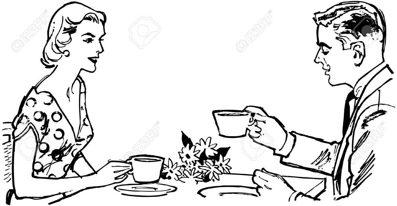 Pares que tienen té Foto de archivo - 28334532