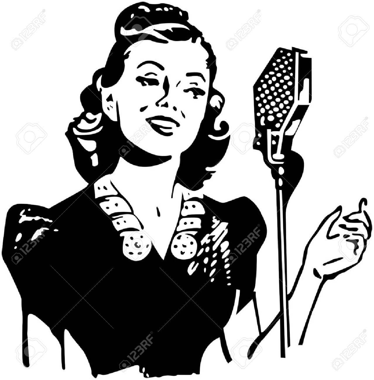 lady singer royalty free cliparts vectors and stock illustration African American Female Singers 1970s lady singer stock vector 28337745