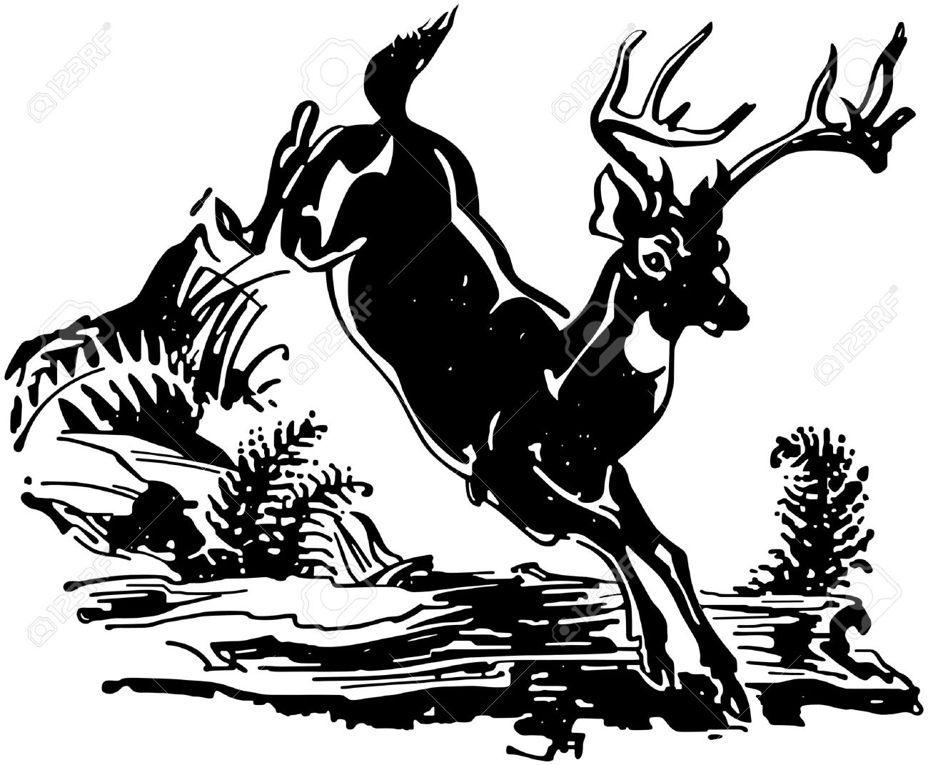 leaping deer royalty free cliparts vectors and stock