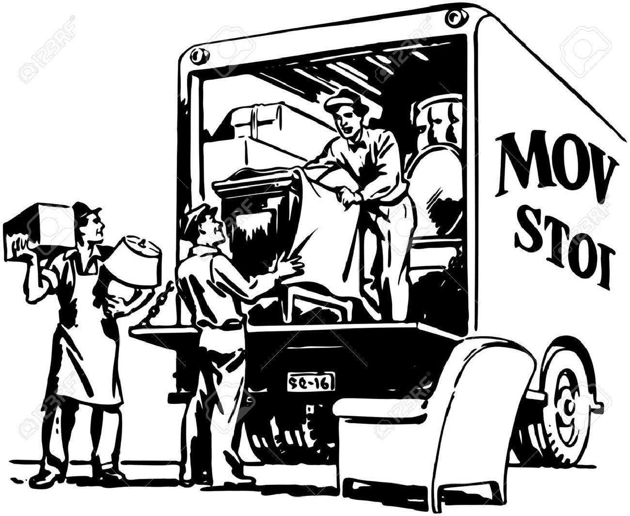 packing moving van royalty free cliparts vectors and stock rh 123rf com moving van clipart moving van clip art free