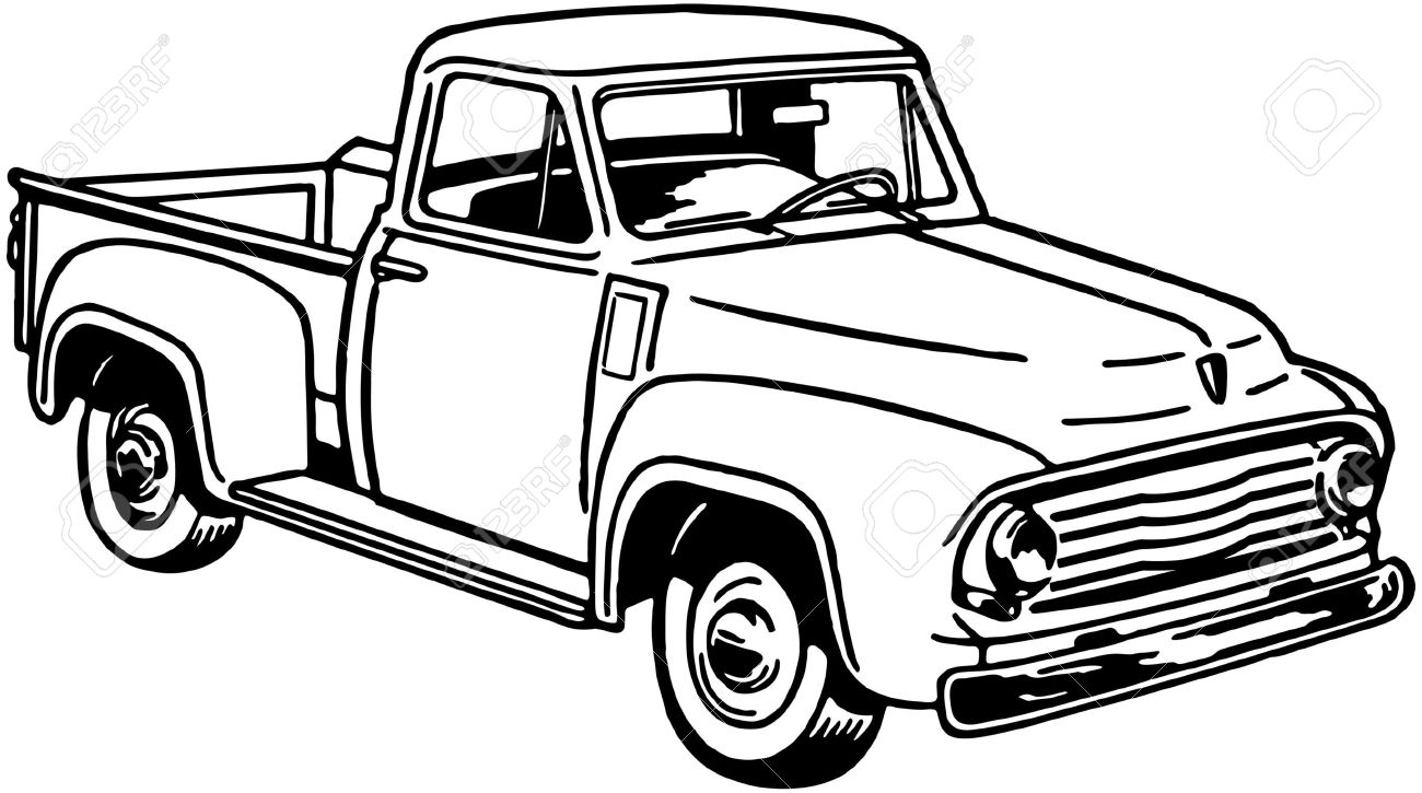 pickup truck 2 royalty free cliparts vectors and stock rh 123rf com ford pickup truck clipart old pickup truck clipart