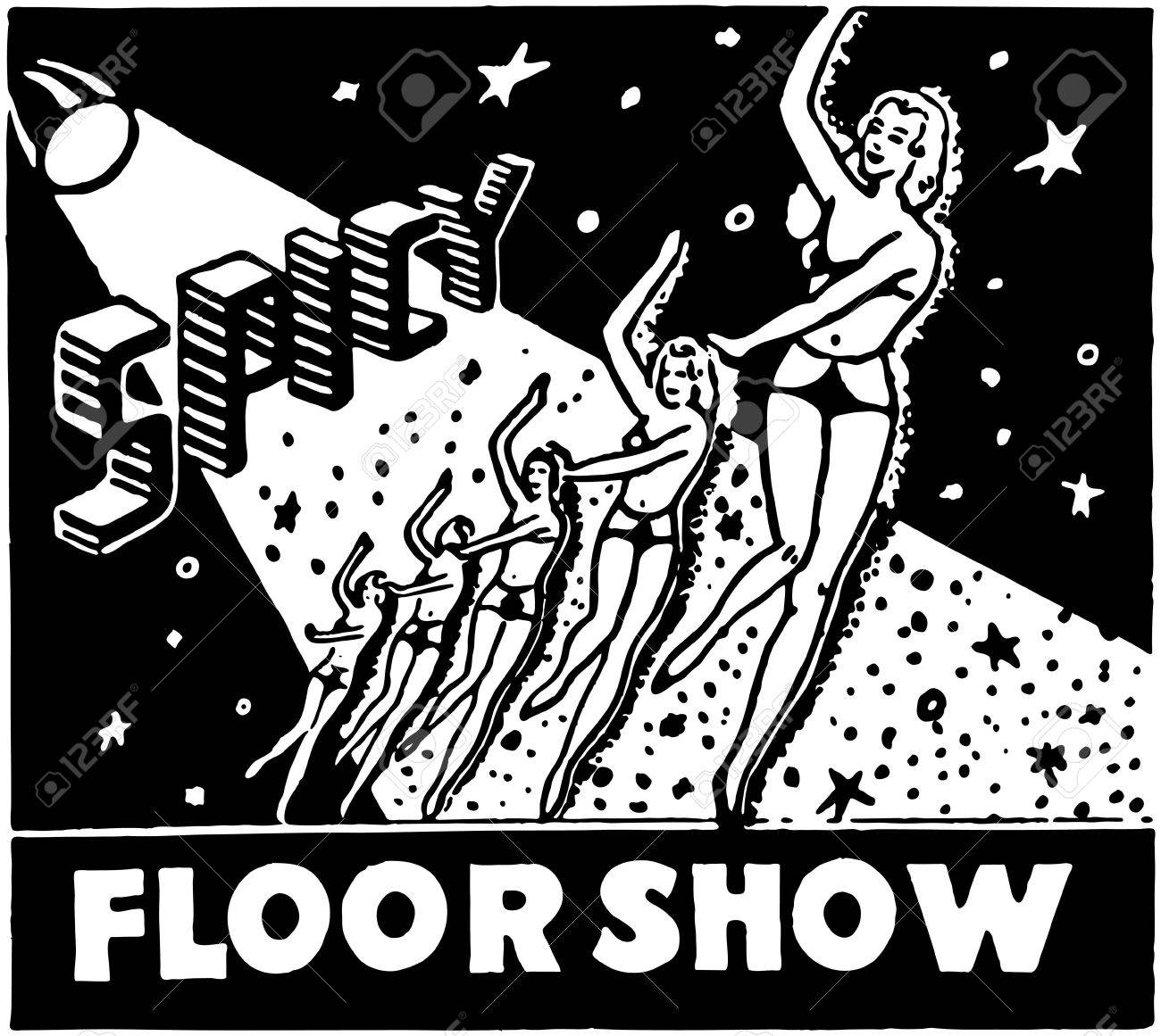 Spicy Floor Show Stock Vector - 28343007