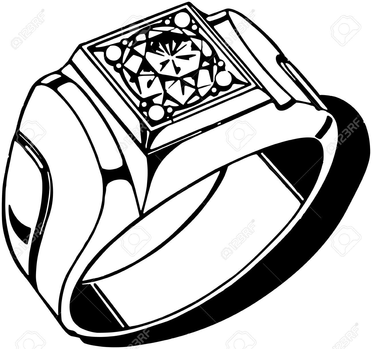 mens diamond ring royalty free cliparts vectors and stock rh 123rf com Men's Class Rings Men's Class Rings